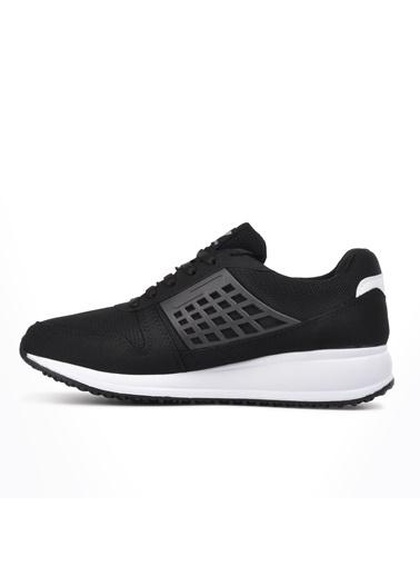 Walkway Lagos Siyah-Beyaz Fileli Erkek Spor Ayakkabı Siyah